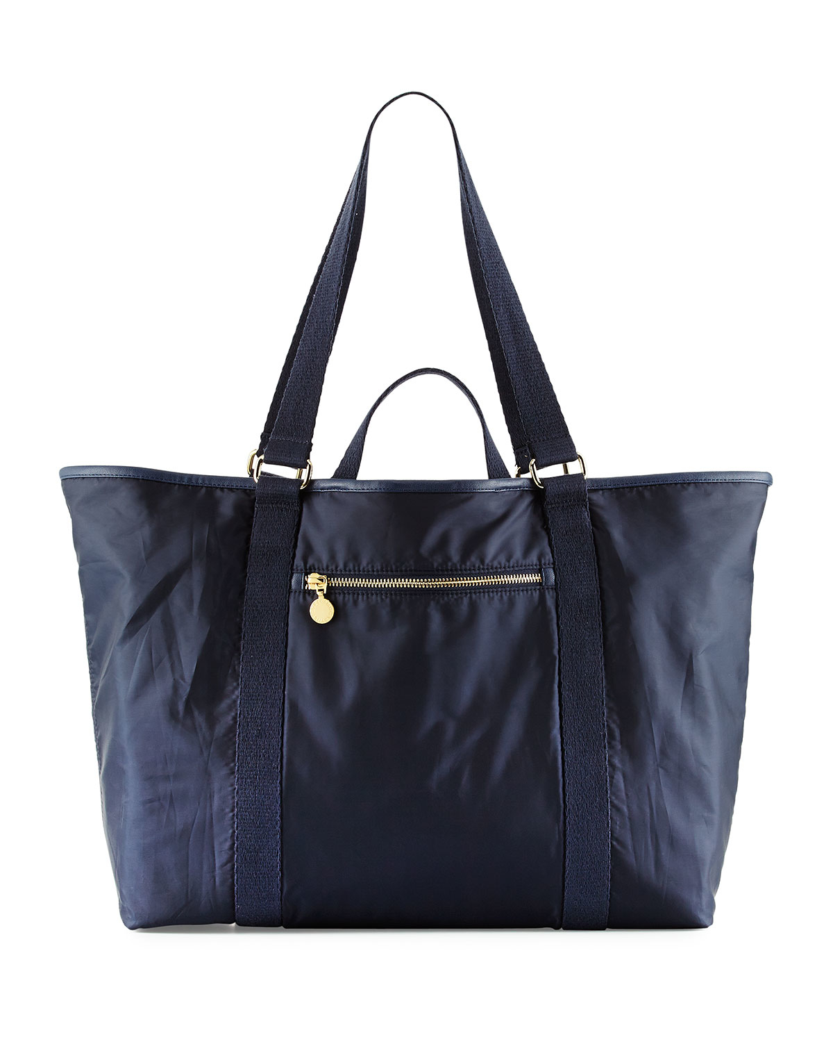 stella mccartney faux leather trim diaper bag in blue lyst. Black Bedroom Furniture Sets. Home Design Ideas