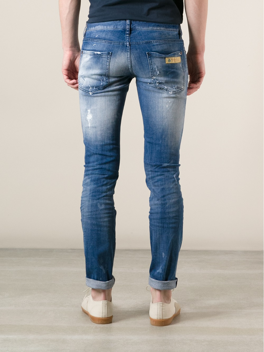 DSquared² Distressed Skinny Jeans in Blue for Men
