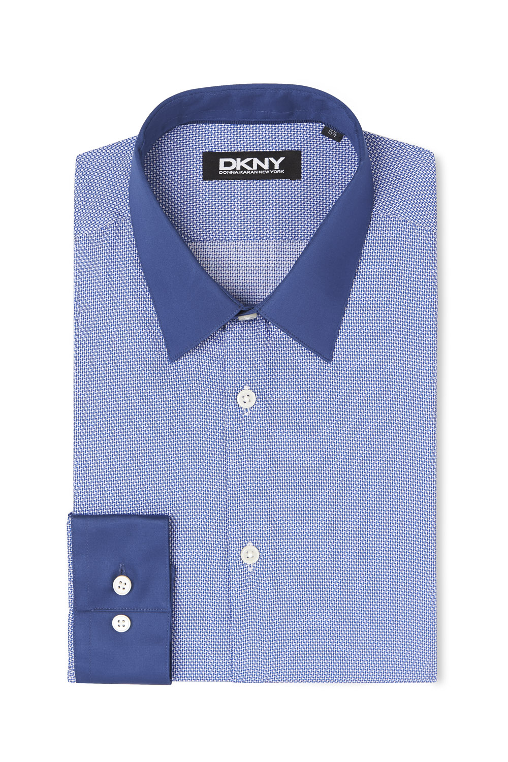 Dkny slim fit navy single cuff contrast collar and cuff for Mens dress shirts with contrasting collars and cuffs