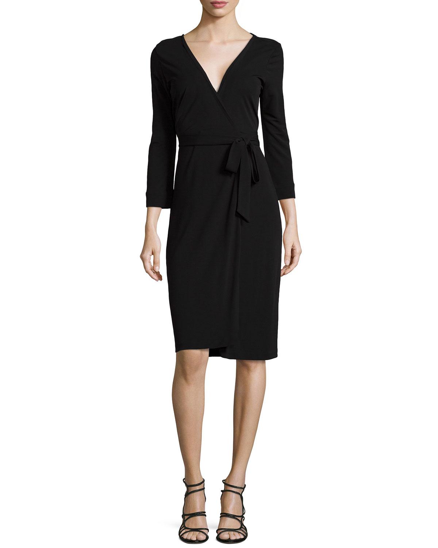 Diane Von Furstenberg New Julian Two Matte Jersey Wrap