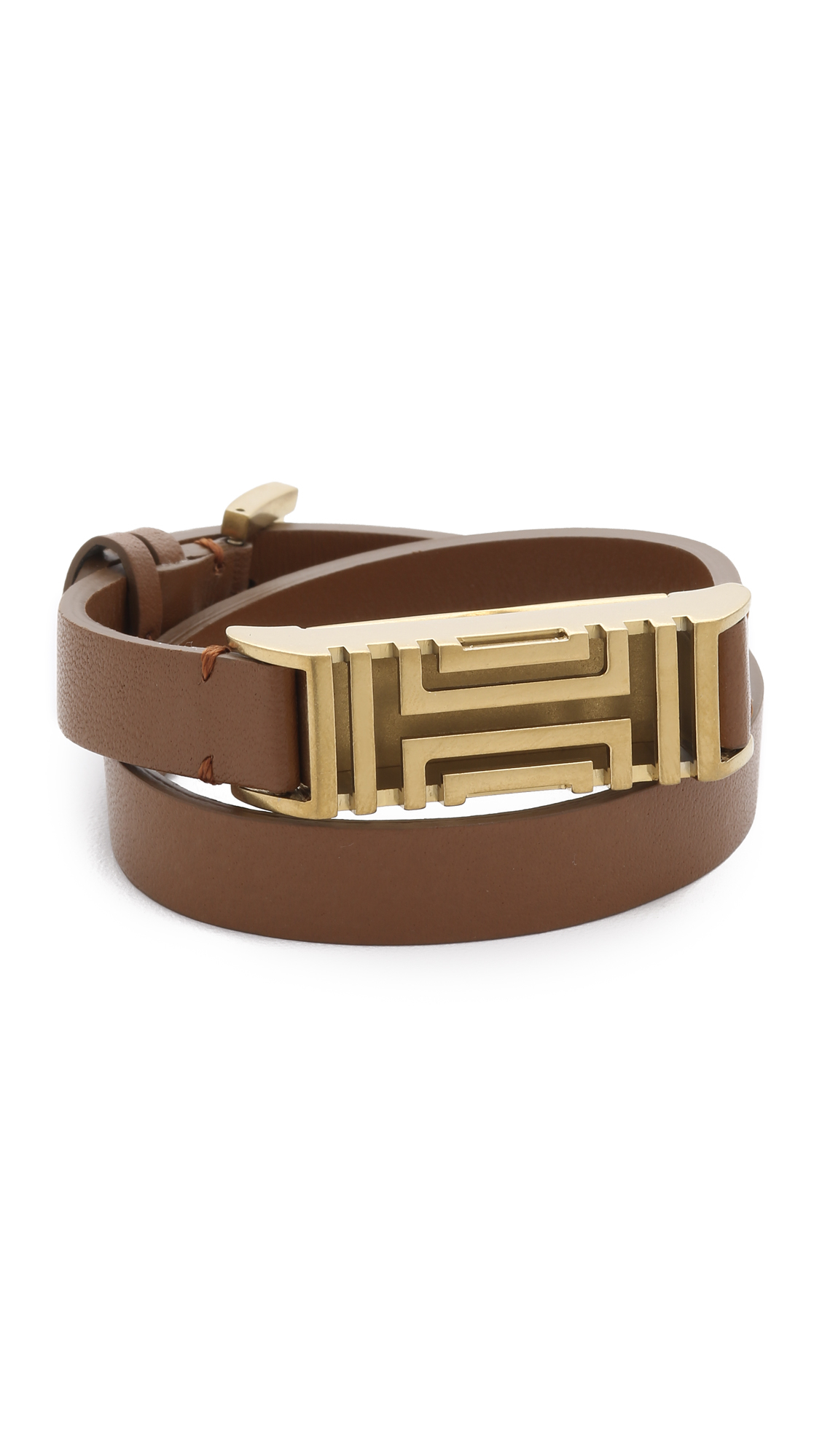 Tory burch for fitbit leather bracelet bark aged gold in for Tory burch jewelry amazon