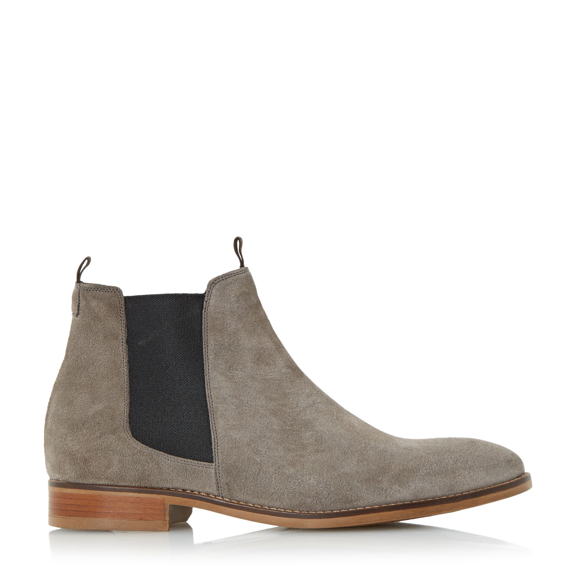 bertie cole double pull up tab chelsea boots in gray for men lyst. Black Bedroom Furniture Sets. Home Design Ideas