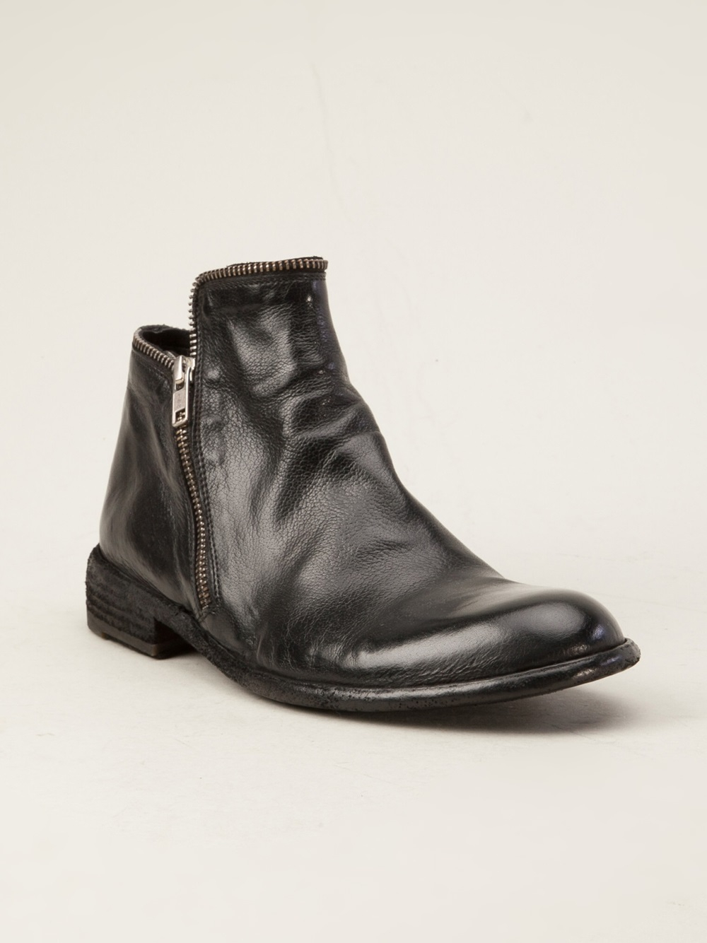 officine creative distressed boot in black lyst