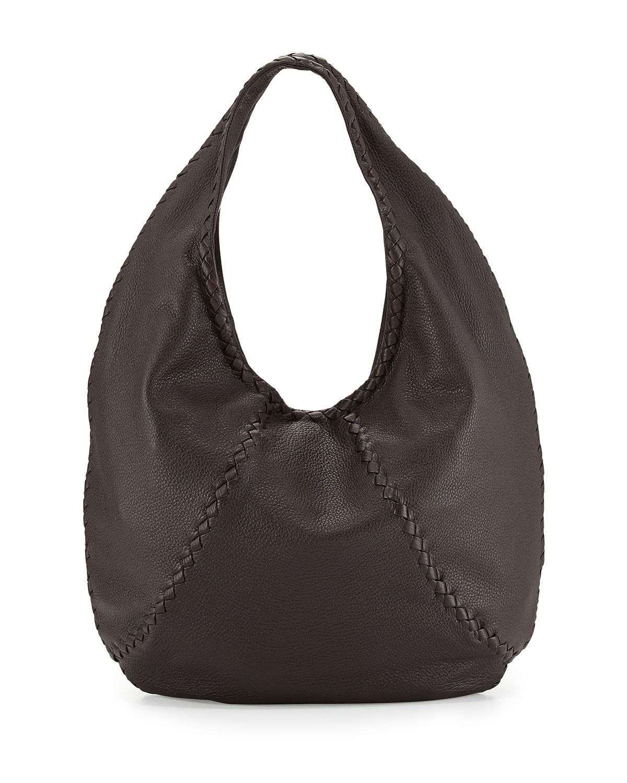 Bottega Veneta Cervo Large Hobo Bag in Brown (ESPRESSO)