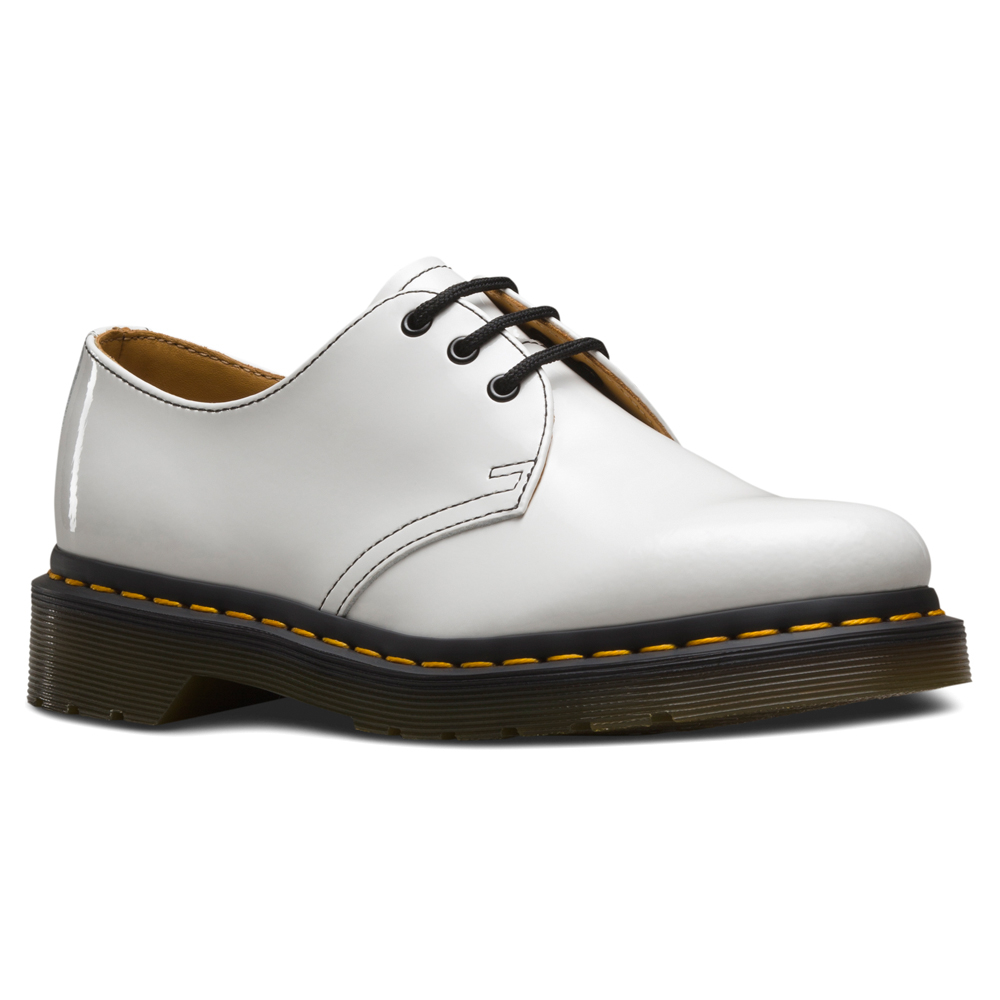 All White Dr Martens Shoes