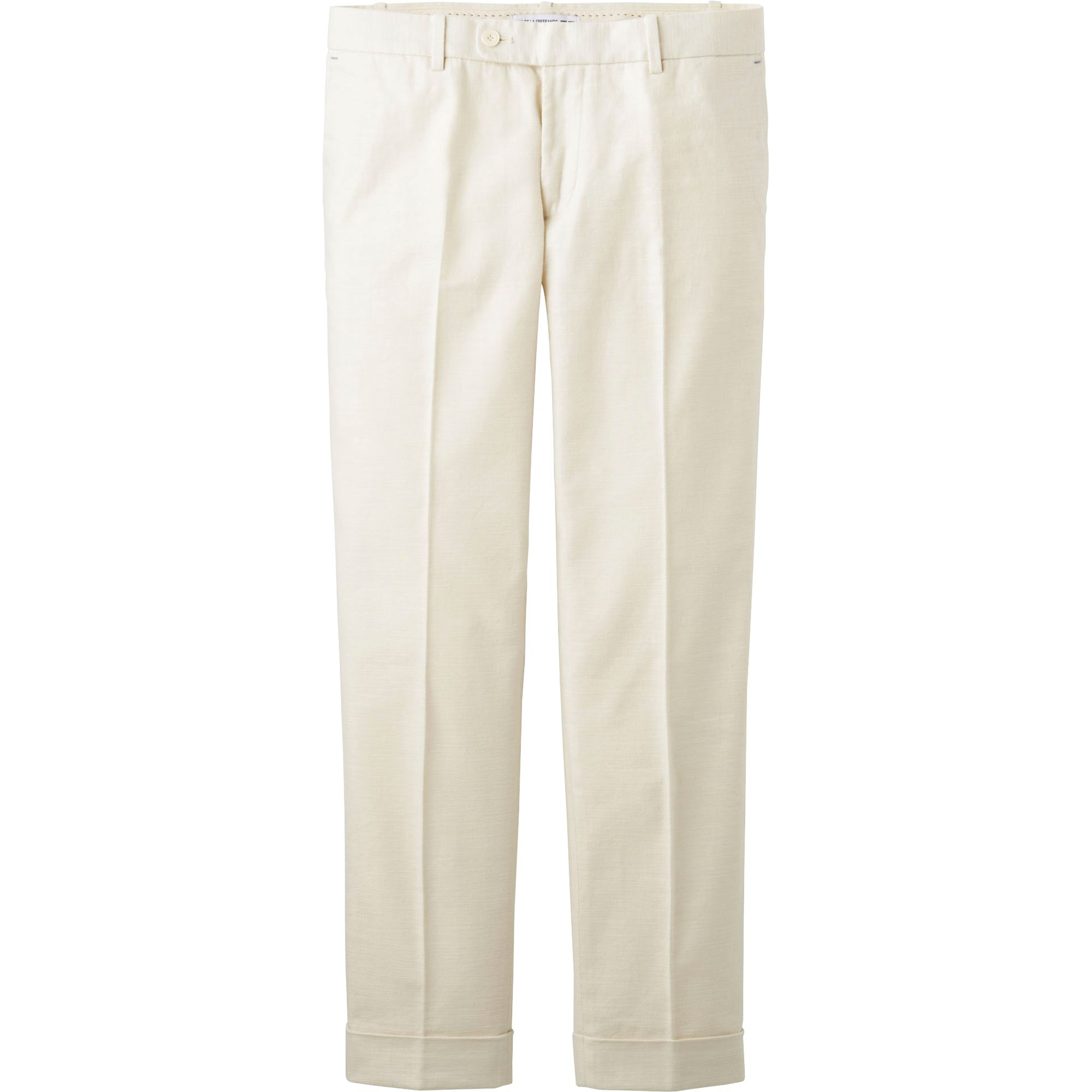 Original WOMENS KOOKAI WHITE LINEN BUTTON CASUAL CLASSIC LONG PANTS TROUSERS