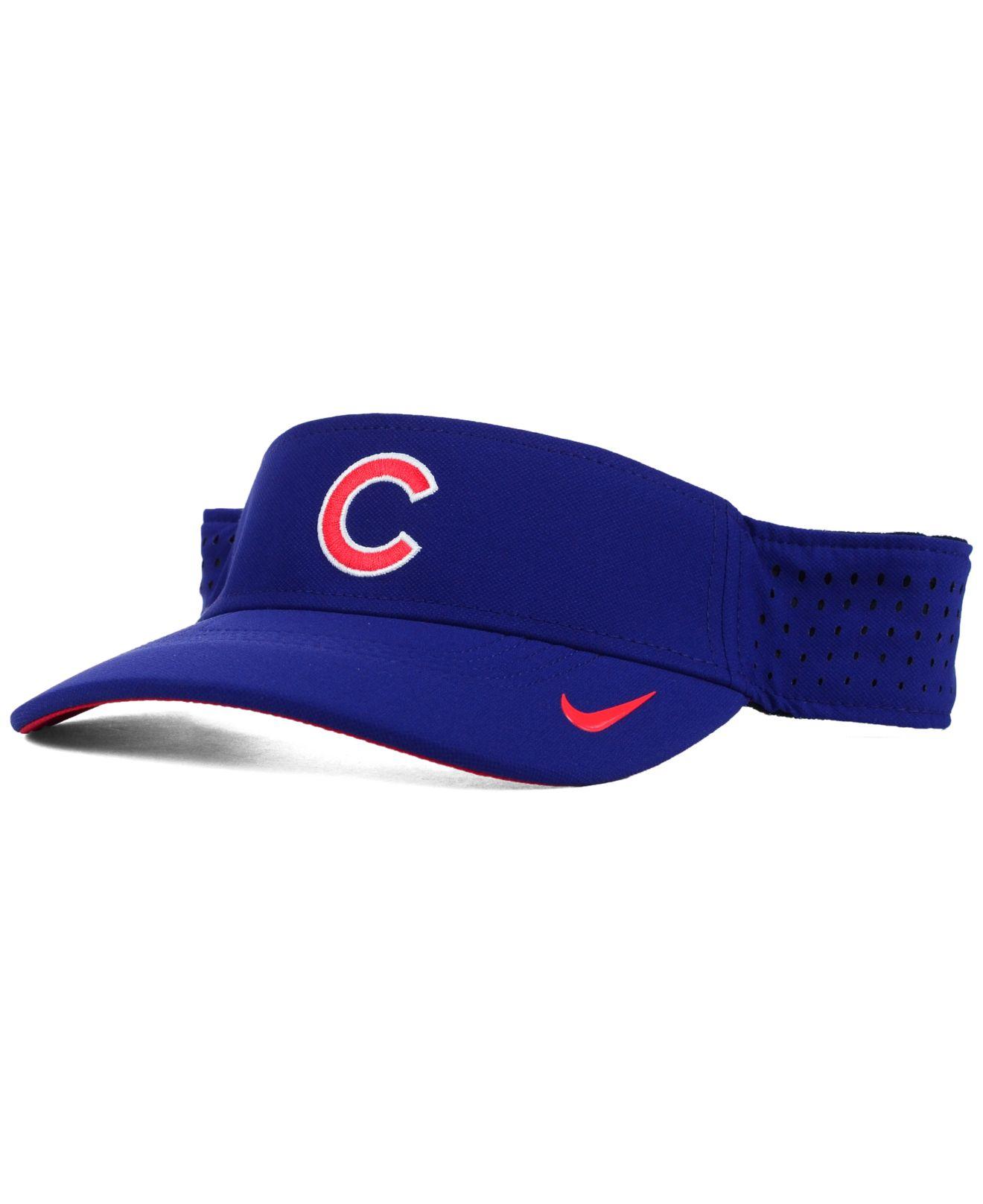 Lyst - Nike Chicago Cubs Vapor Visor in Blue for Men 23fedd8800e