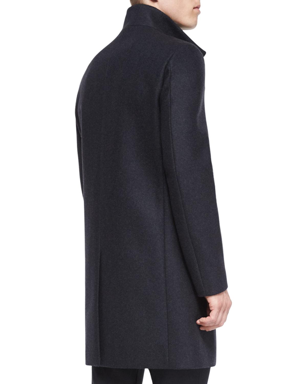 Theory Belvin Wool-blend Car Coat in Gray for Men | Lyst