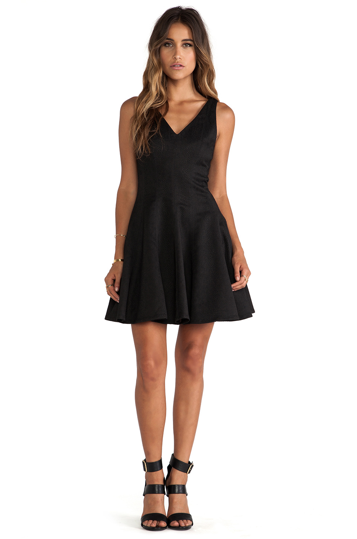 Greylin Ava Python Fit N Flare Dress In Black Lyst