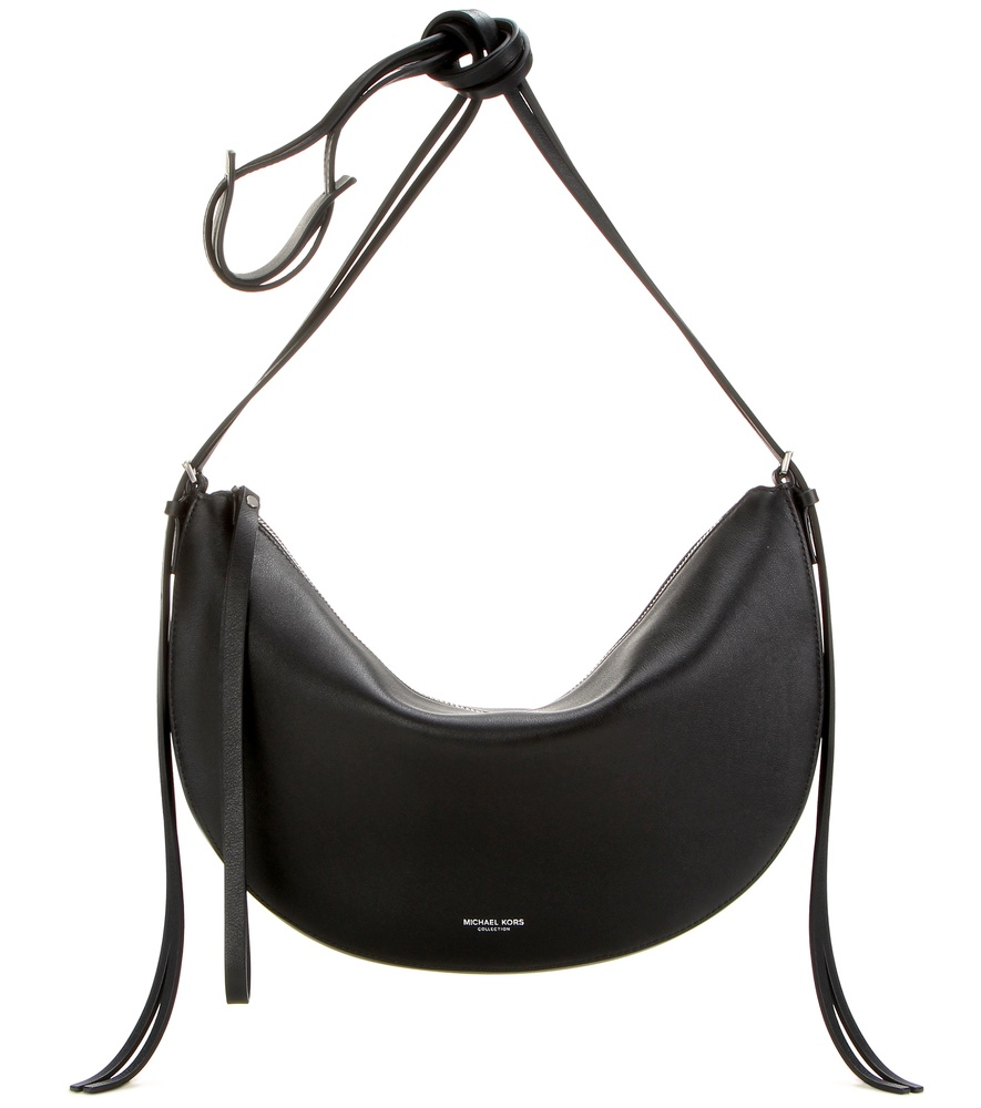 02ac9d040 Michael Kors Sedona Medium Leather Shoulder Bag in Black - Lyst