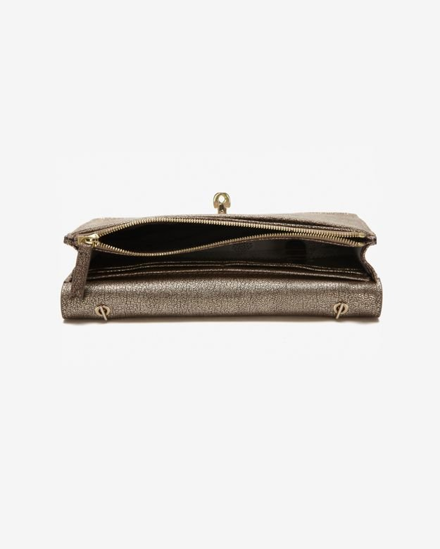 ff444c1ea20a ... shop lyst mulberry bayswater metallic mushroom goat wallet clutch in  brown fc825 5e149