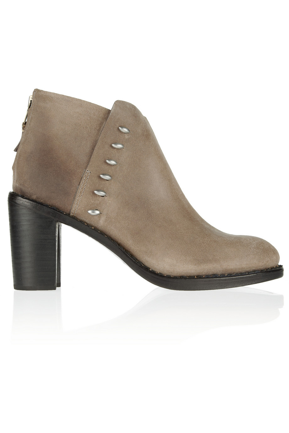 rag bone ayle waxed suede ankle boots in gray lyst. Black Bedroom Furniture Sets. Home Design Ideas