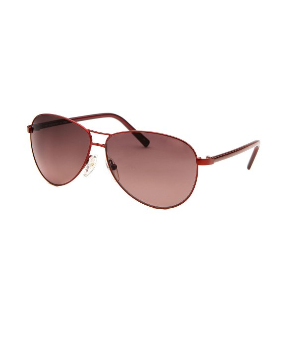 Fendi Women's Aviator Red Sunglasses in Red