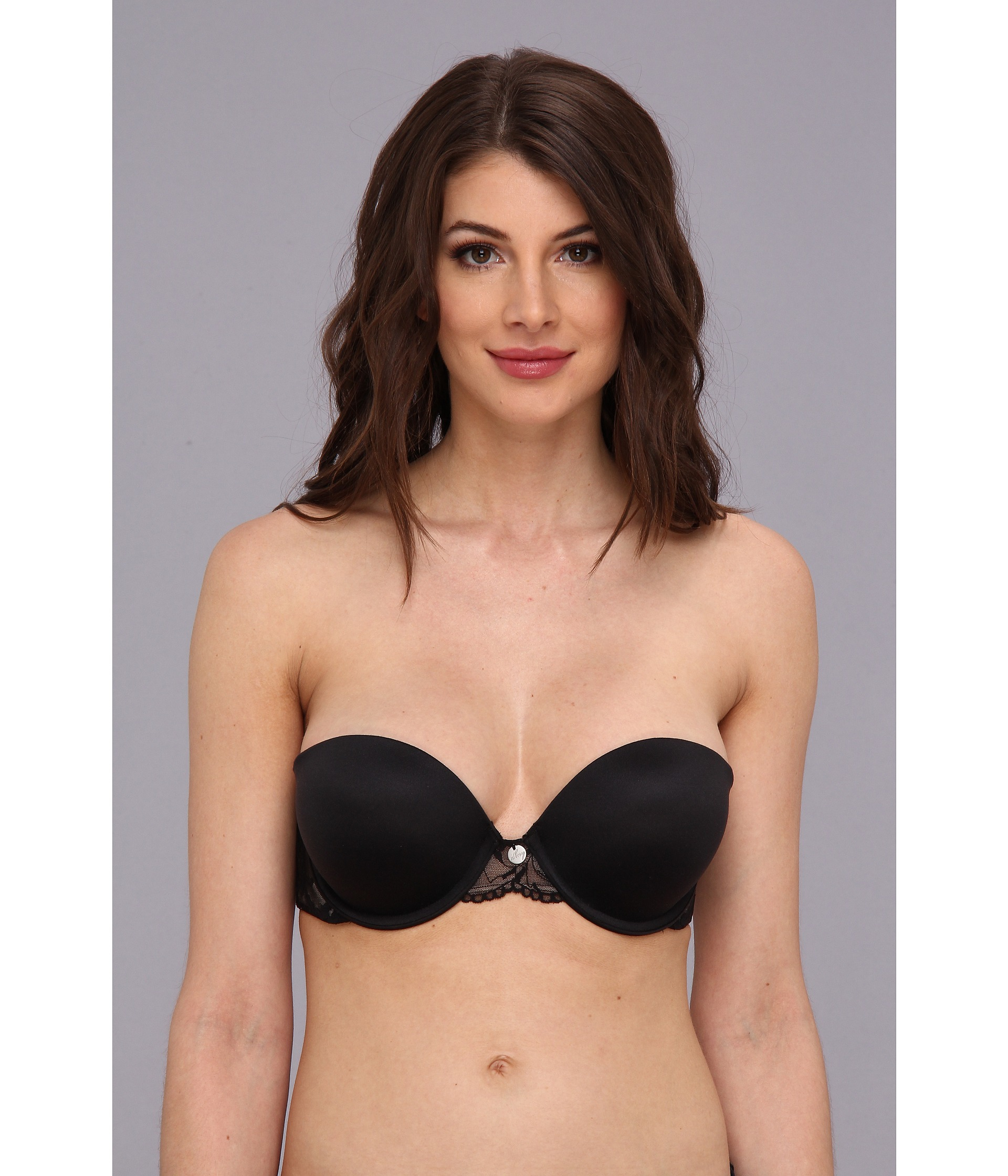 2a95376c967f1 Lyst - DKNY Super Glam Strapless Push-up Bra 458111 in Black