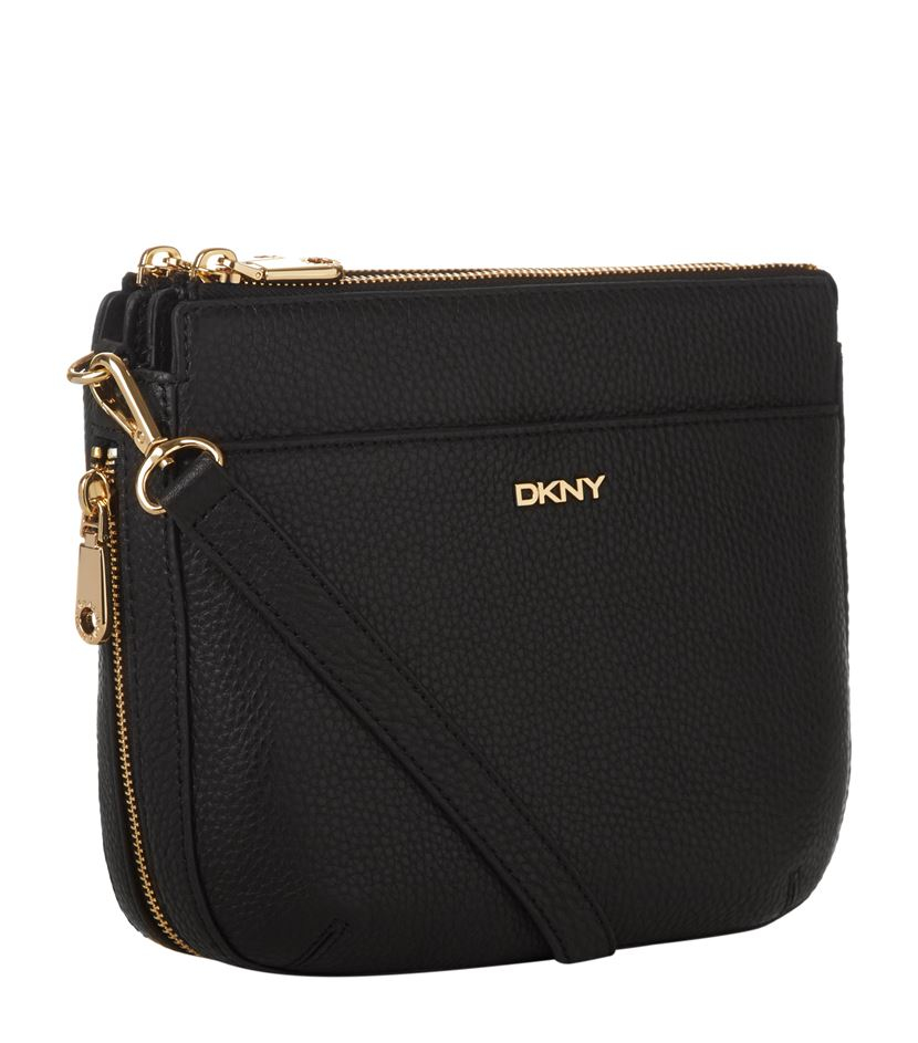 DKNY Tribeca Double Zip Crossbody Bag in Black