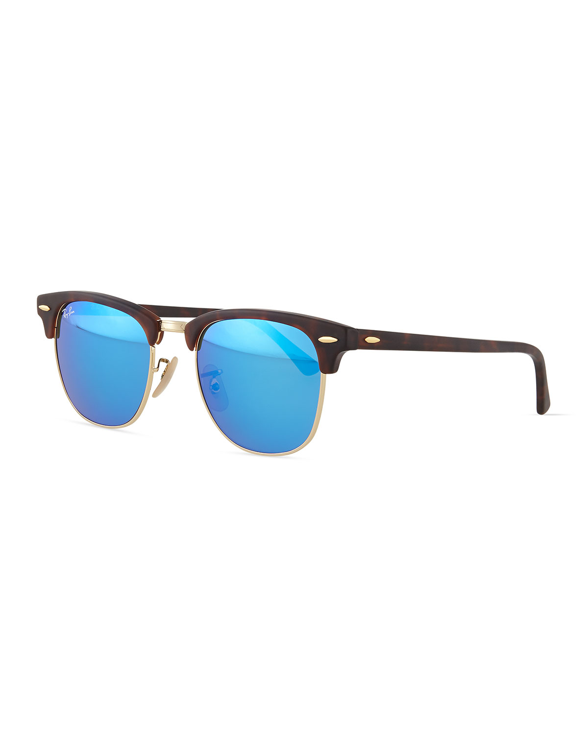 Lyst - Ray-Ban Clubmaster Half-rimmed Sunglasses