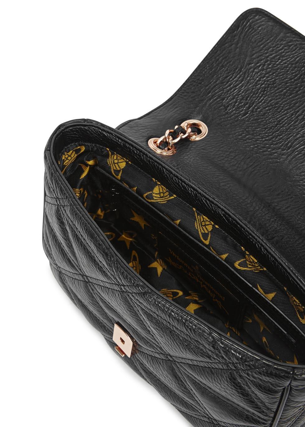 63d9c51ea1 Vivienne Westwood Anglomania Sharlemania Black Leather Shoulder Bag ...