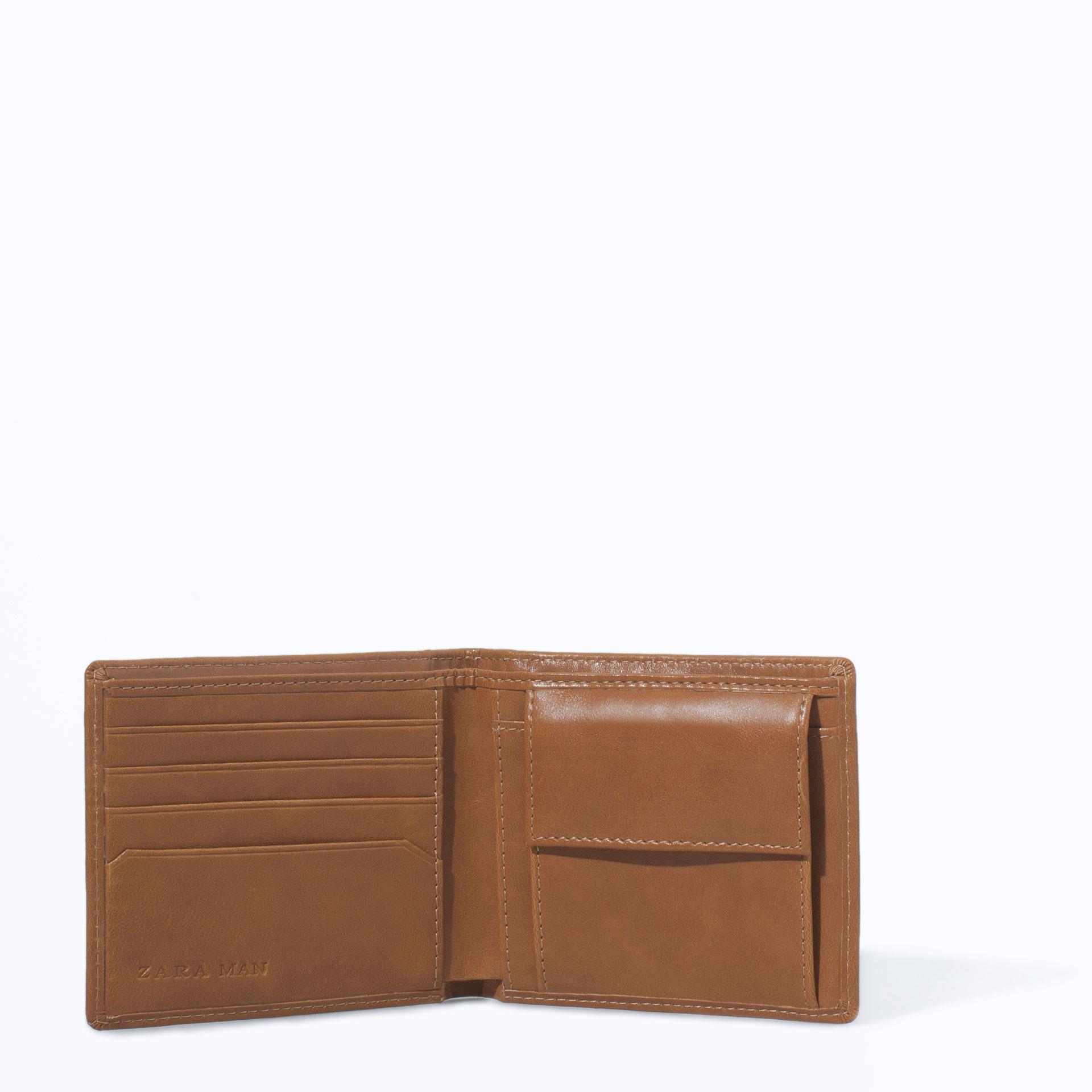 Zara Wallet In Brown For Men Lyst