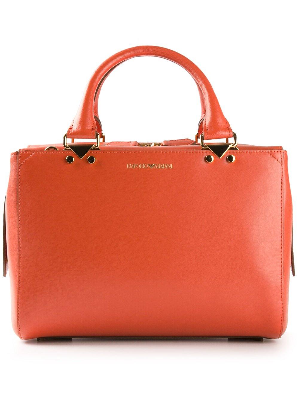 Emporio Armani Classic Tote Bag in Orange (yellow   orange 31278f2d1d9