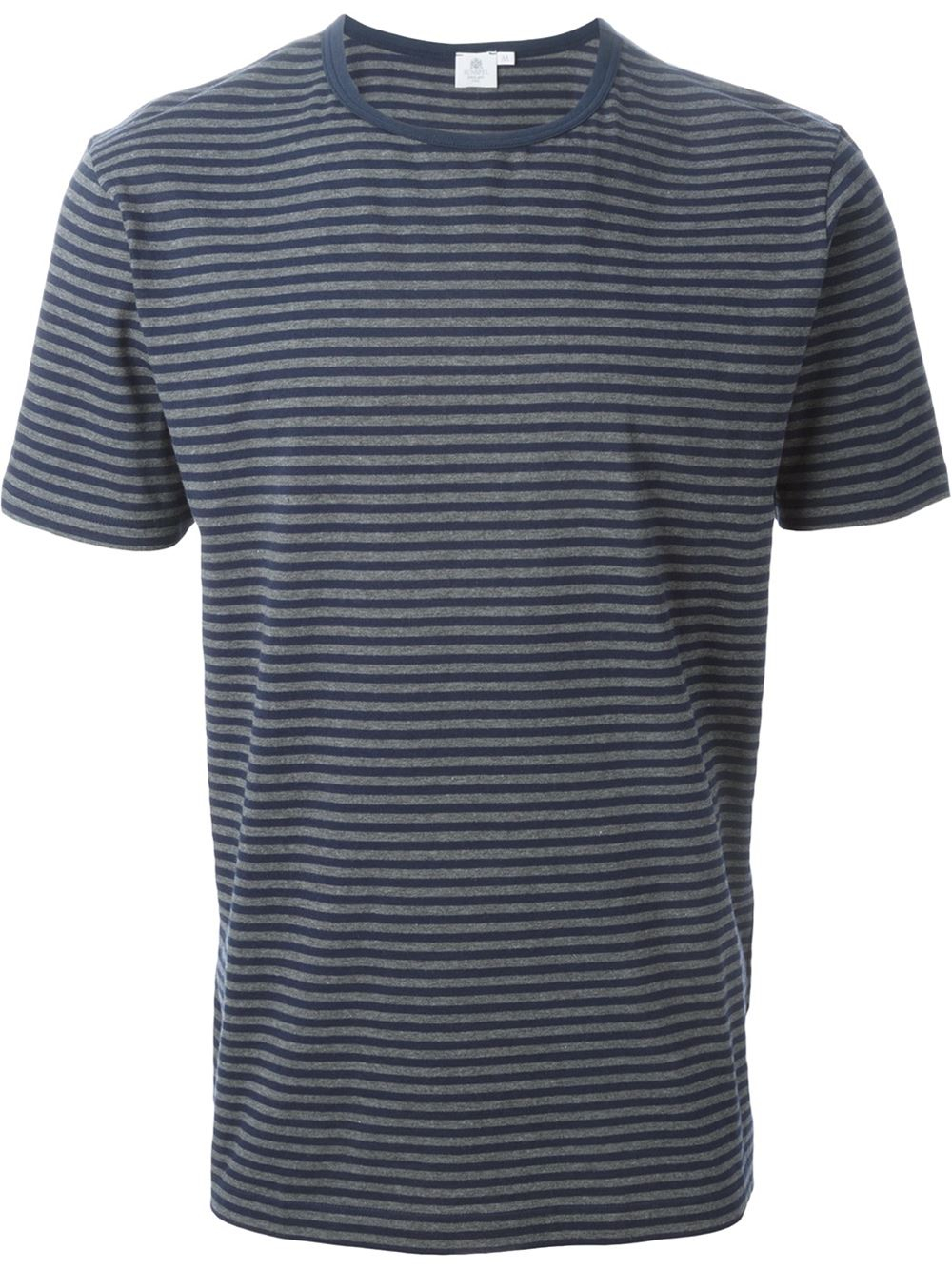 Sunspel striped t shirt in gray for men grey lyst Grey striped t shirt