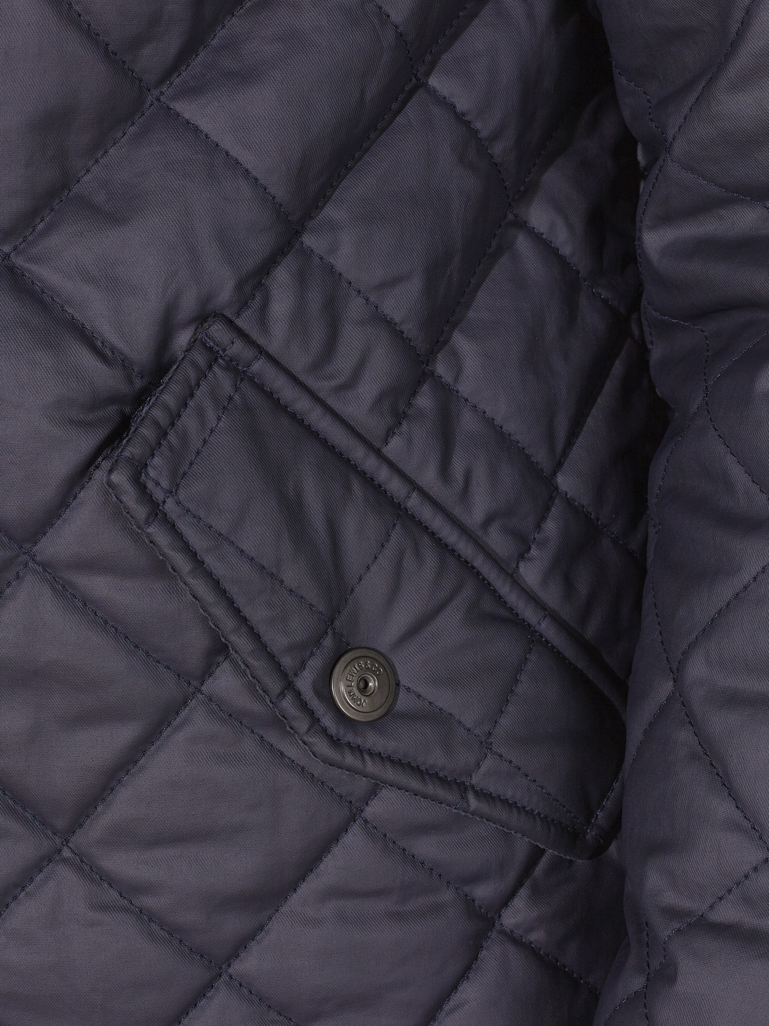 John Lewis Waxed Cotton Quilted Jacket In Blue For Men Lyst