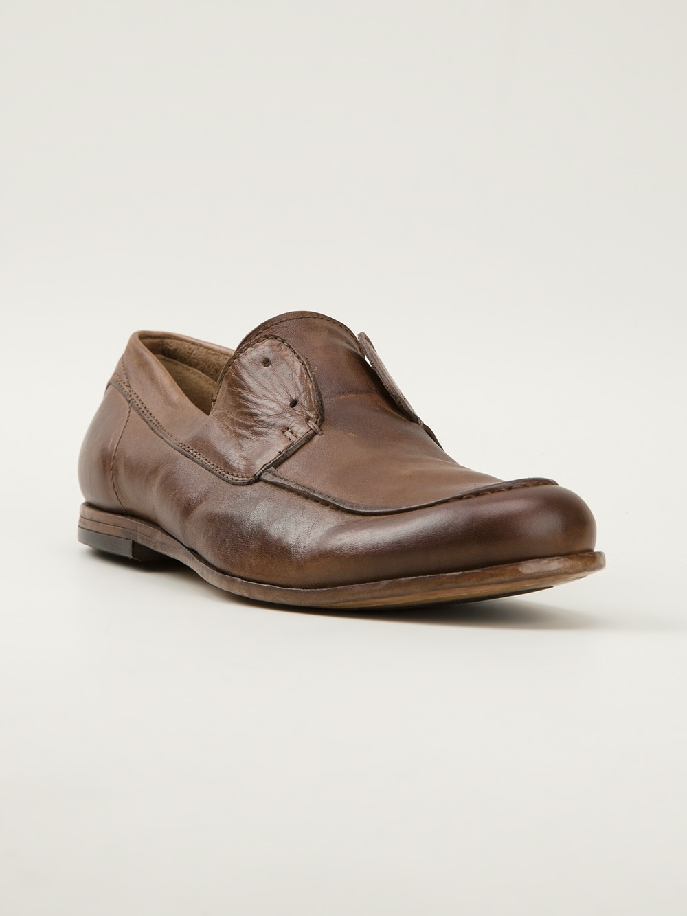 Pantanetti Laceless Loafers in Brown for Men