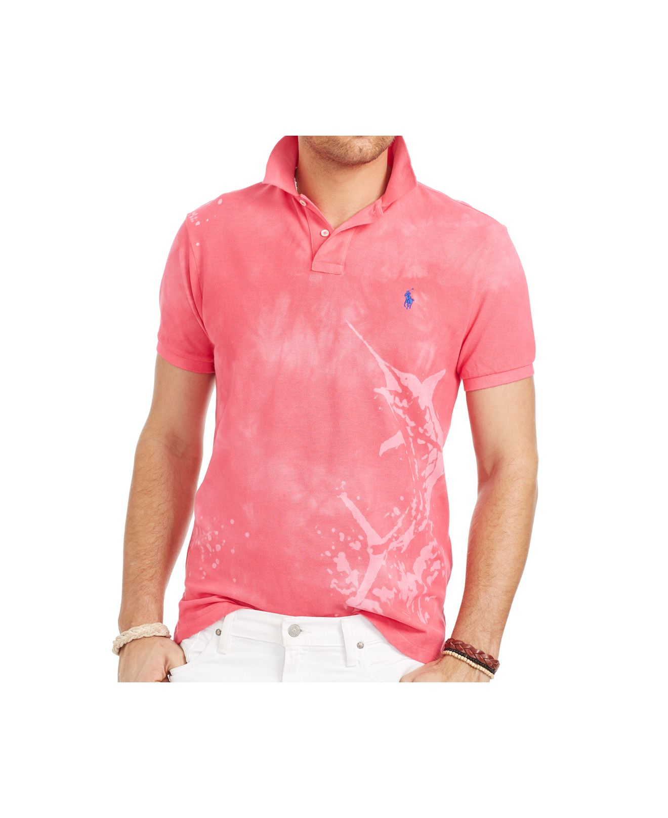 Lyst polo ralph lauren big and tall custom fit tropical for Big and tall custom polo shirts