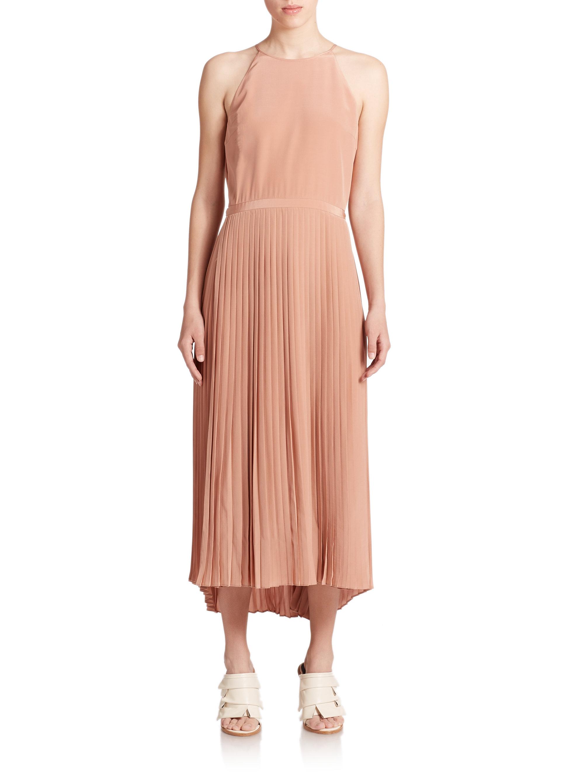 Tibi silk halter maxi dress