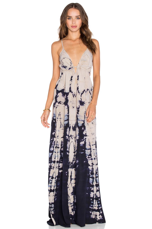 Blue life maxi dress