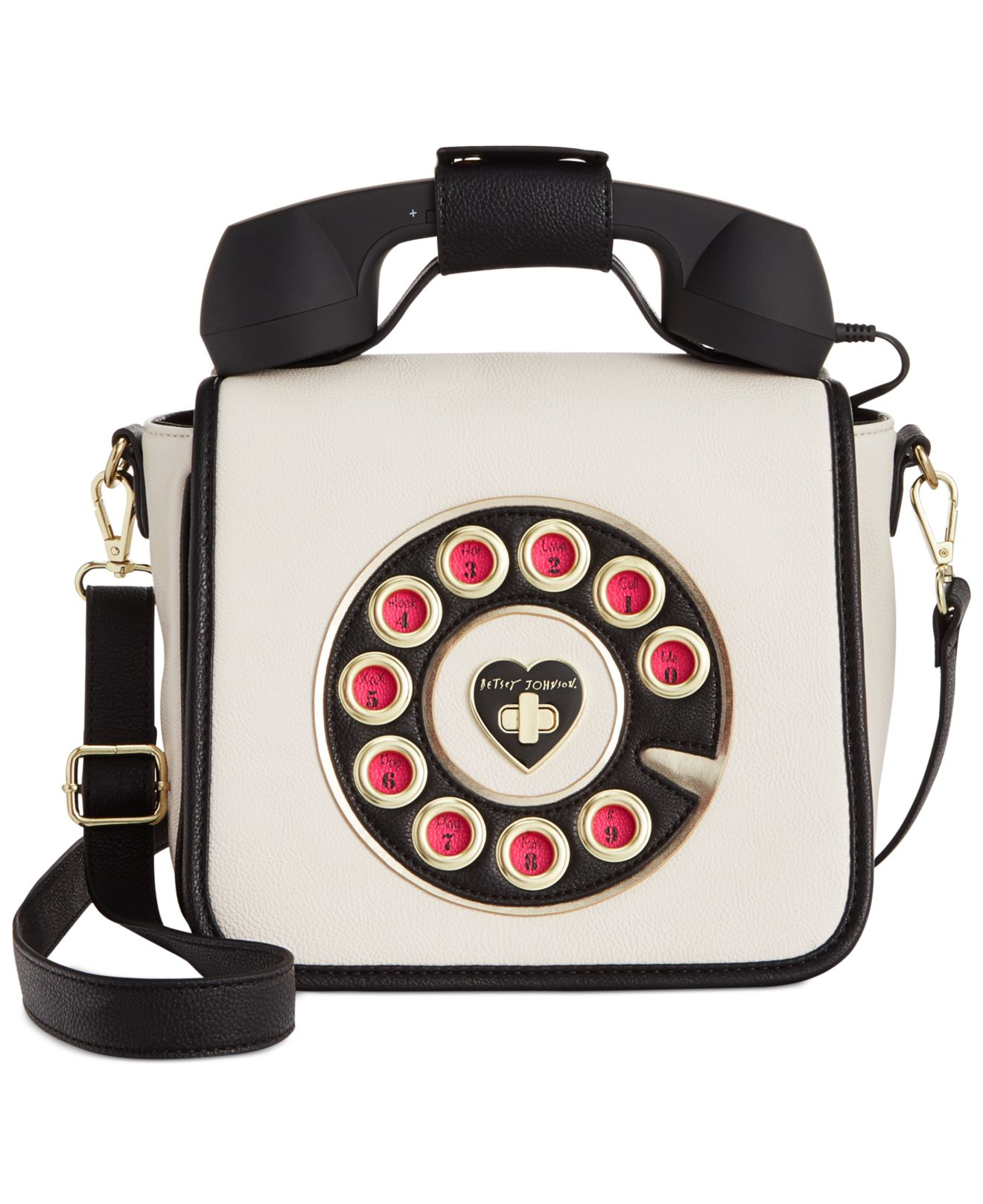 Kate Spade Telephone Purse Best Image Ccdbb. Gallery. Lyst Betsey Johnson Phone Crossbody In Natural