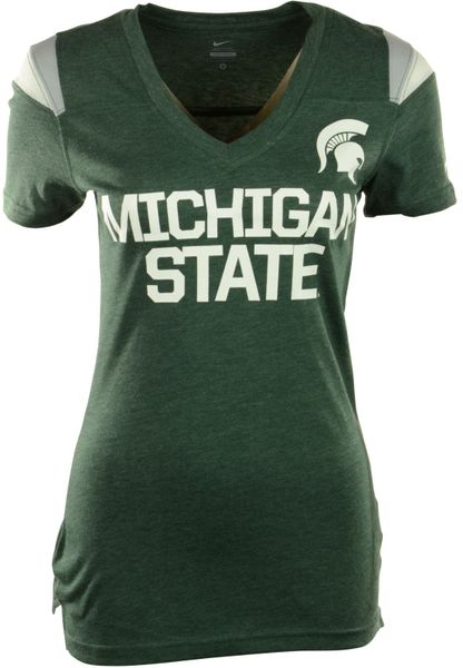 Nike Women 39 S Short Sleeve Michigan State Spartans V Neck T