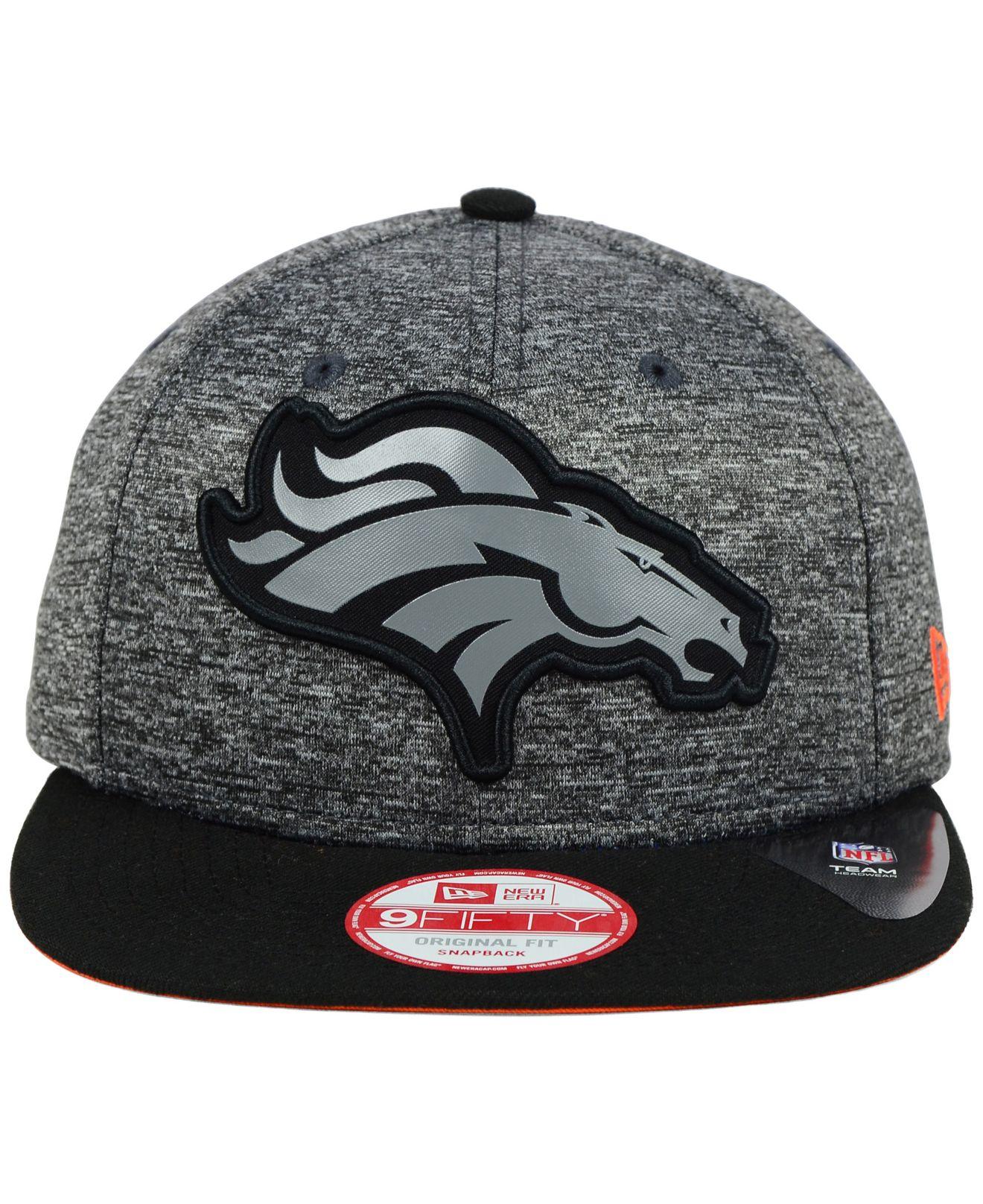c3c9fa7e KTZ Gray Denver Broncos Gridiron 9fifty Snapback Cap for men