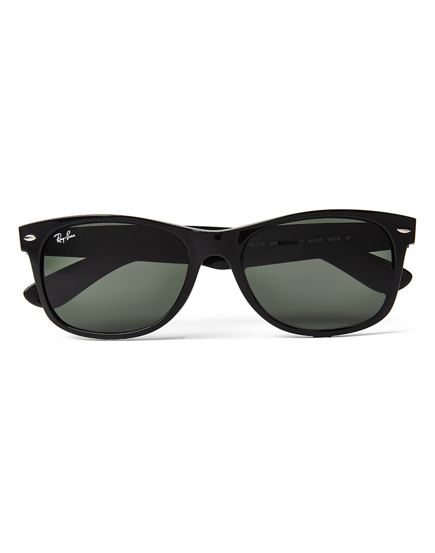 ray ban polarized wayfarer sunglasses large rb2132 901 58. Black Bedroom Furniture Sets. Home Design Ideas