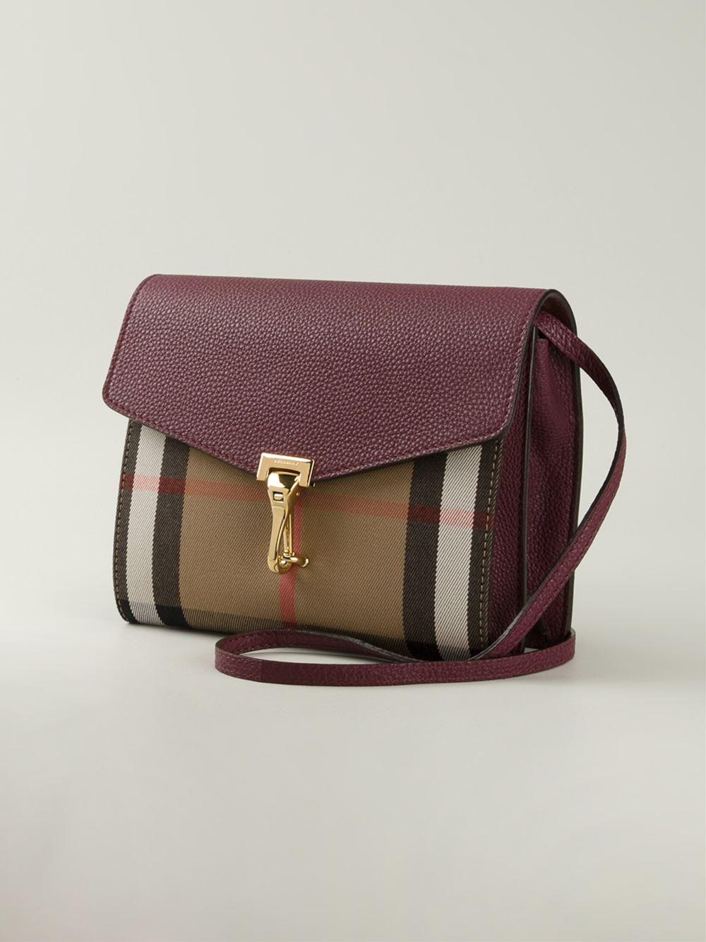 07532d423914 Lyst - Burberry Macken Small Cross-Body Bag in Purple