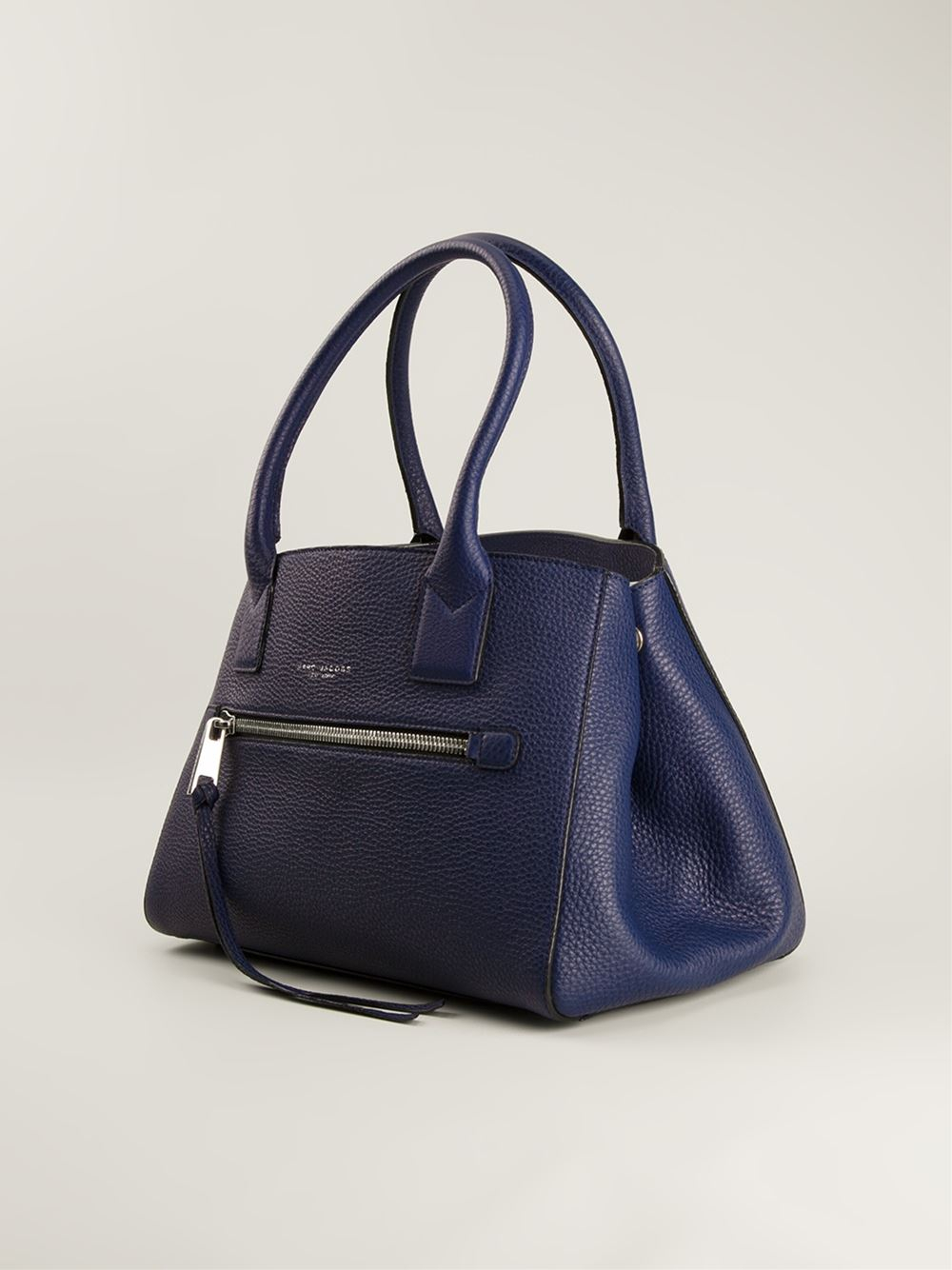 Marc Jacobs The Not So Big Apple Leather Tote in Blue