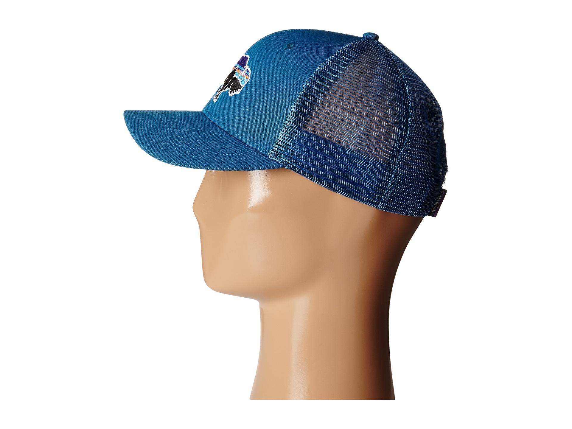 eb23863b Patagonia Fitz Roy Bison Trucker Hat in Blue - Lyst