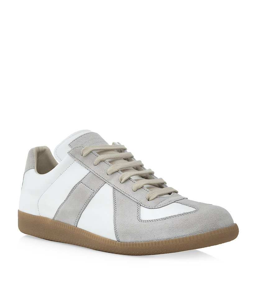 Maison margiela replica low top sneaker in white for men for Replica maison martin margiela
