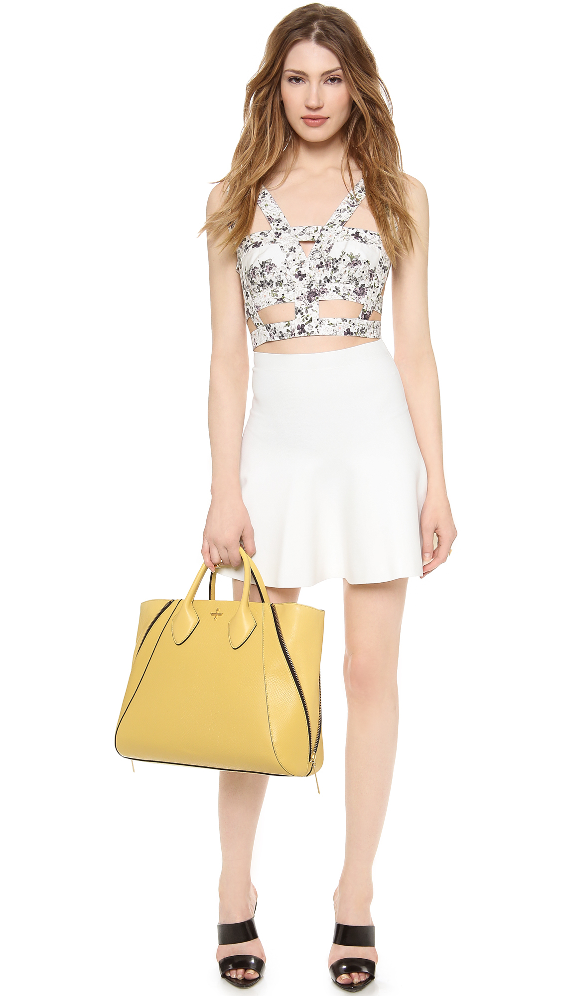 Pour La Victoire Yves Tote in Yellow
