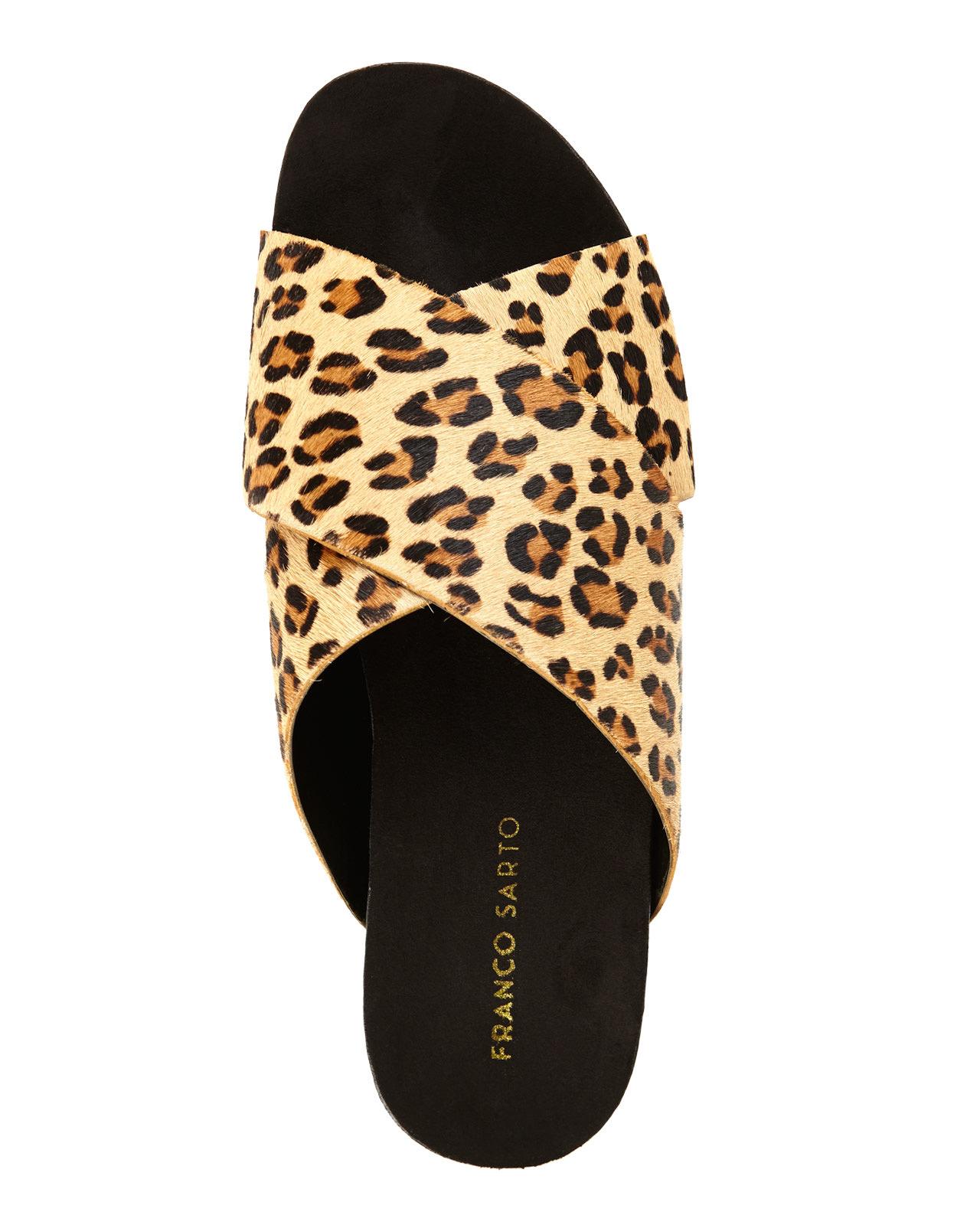 Lyst Franco Sarto Pepper Leopard Print Sandals