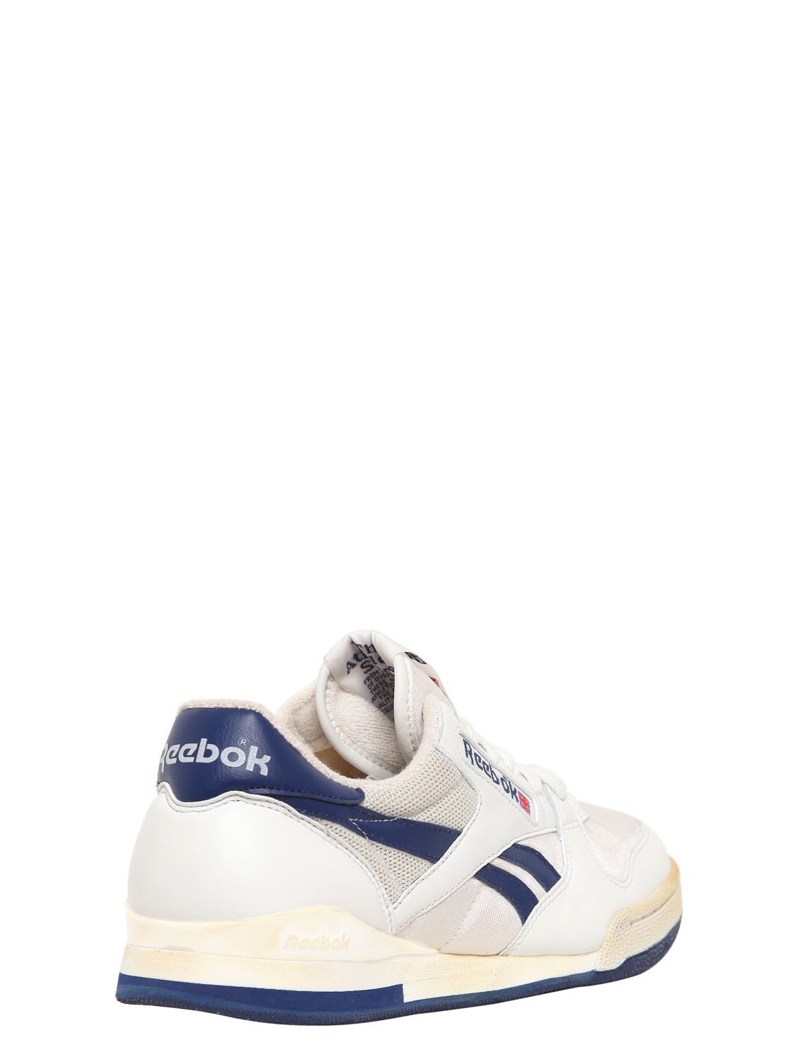 Lyst - Reebok 90 Leather Mesh Tennis Sneakers in Blue for Men e268edd4f