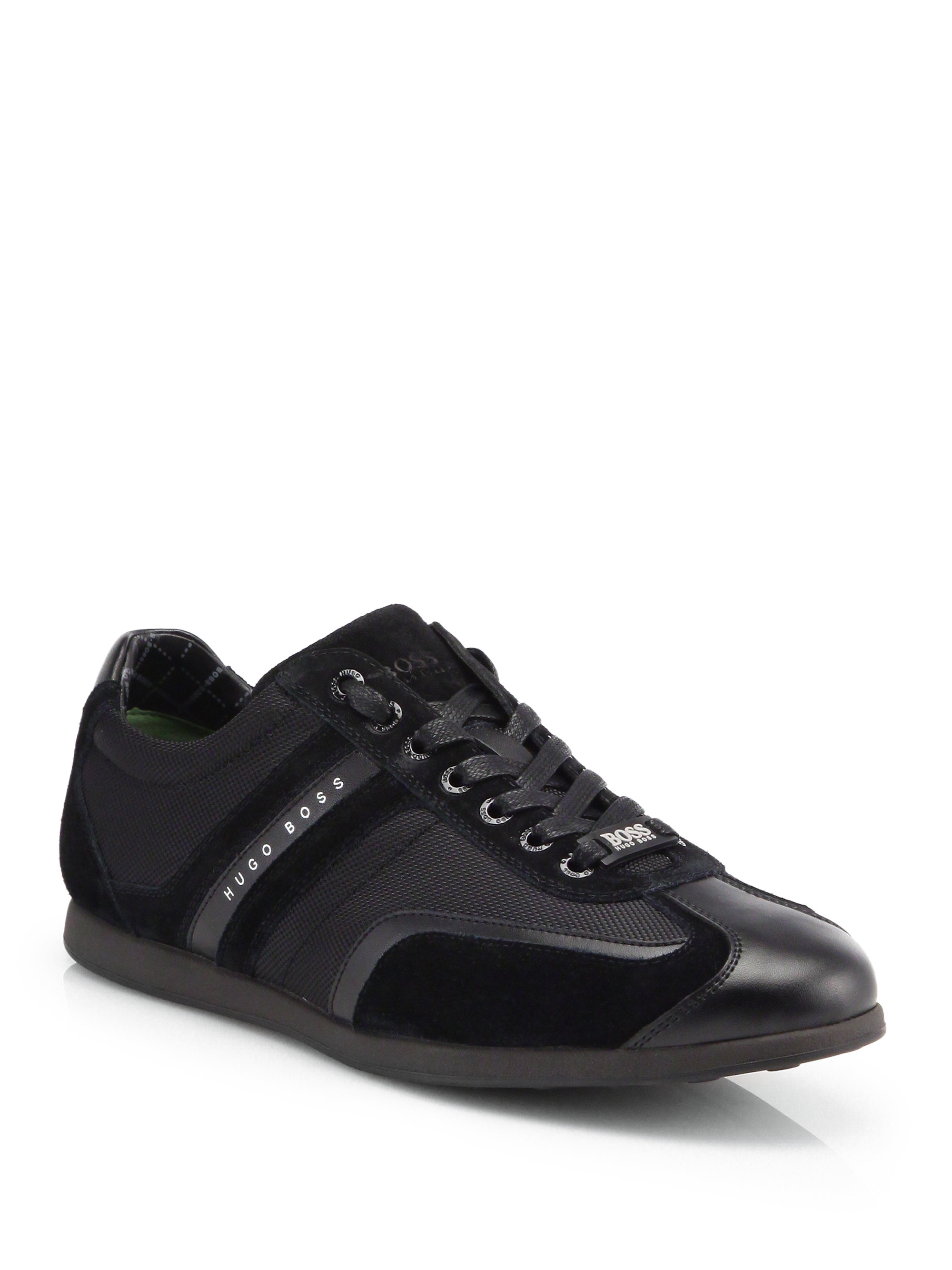 boss by hugo boss stiven lowtop sneakers in black for men lyst. Black Bedroom Furniture Sets. Home Design Ideas
