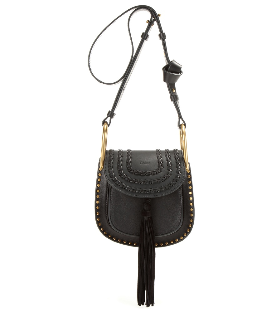 chlo hudson mini embellished leather shoulder bag in black lyst. Black Bedroom Furniture Sets. Home Design Ideas