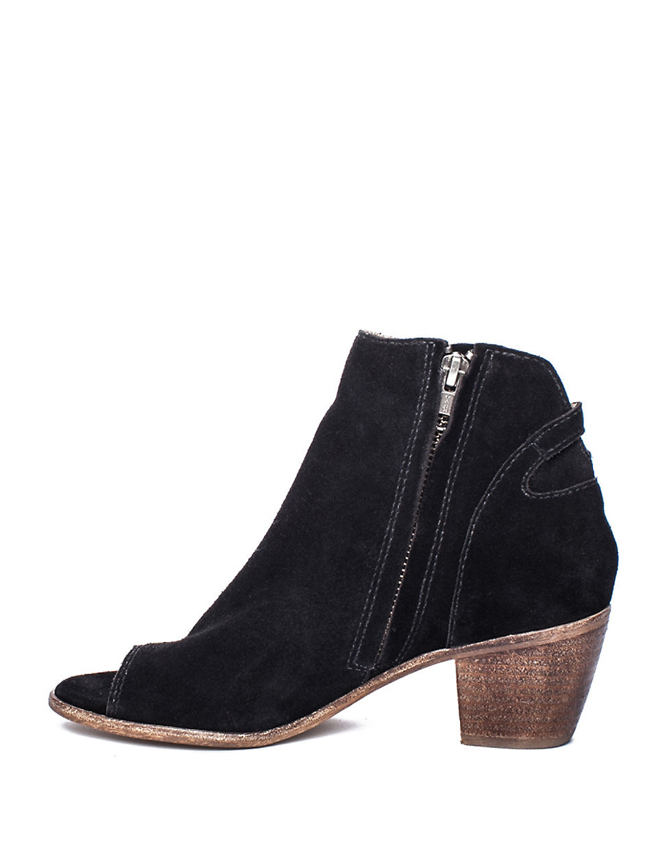matisse folk suede ankle boots in black lyst