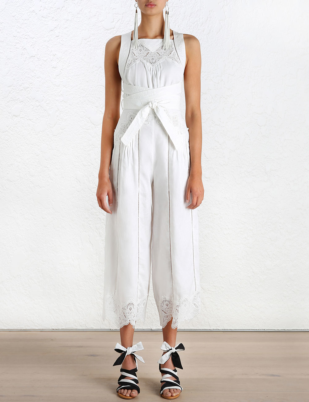 24bcd1432f9 Lyst - Zimmermann Empire Virtue Jumpsuit in White