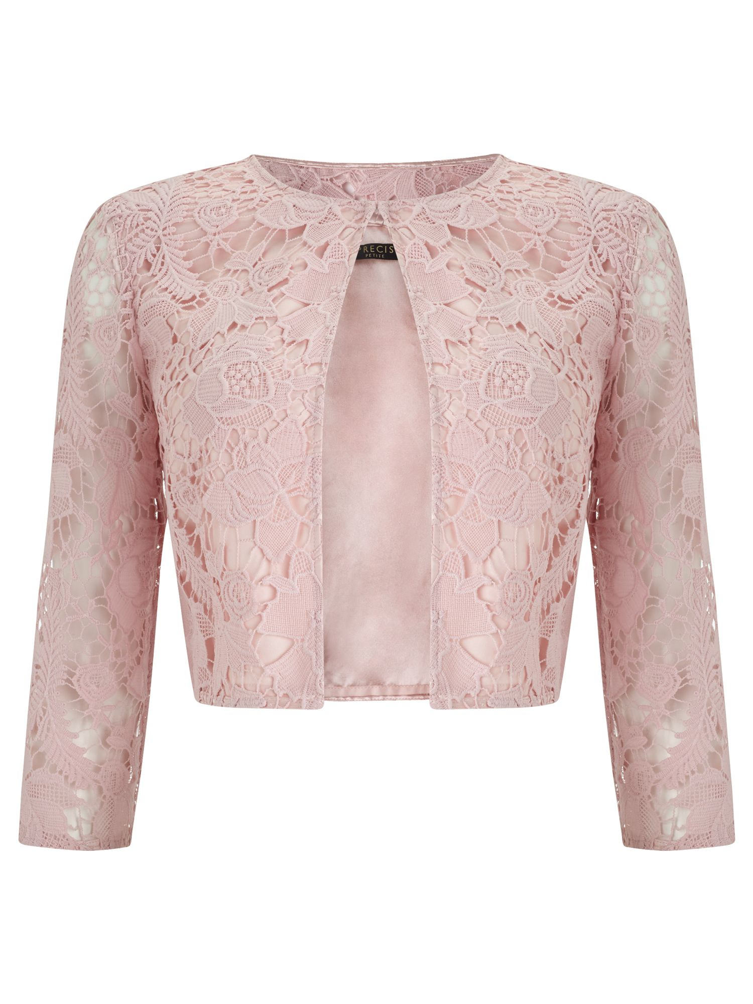 Precis Petite Lace Crop Jacket In Pink Lyst