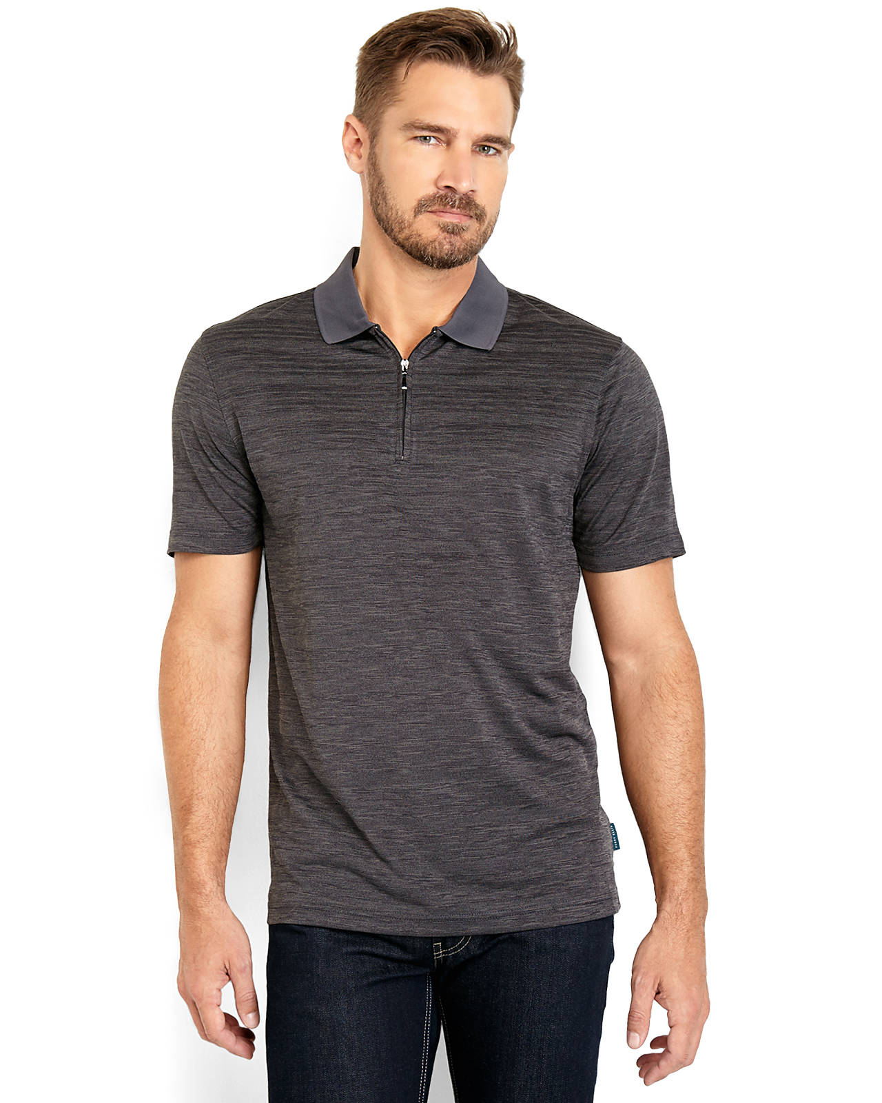 Discount Wide Range Of 2018 Unisex Perry Ellis� Quarter Zip Polo Sale  Excellent Fast Delivery