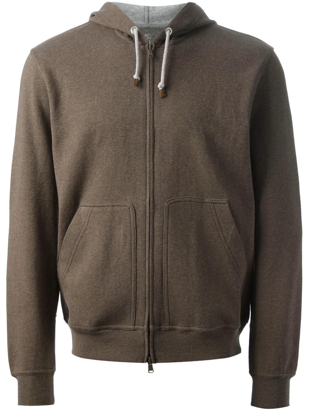Brown zip up hoodie