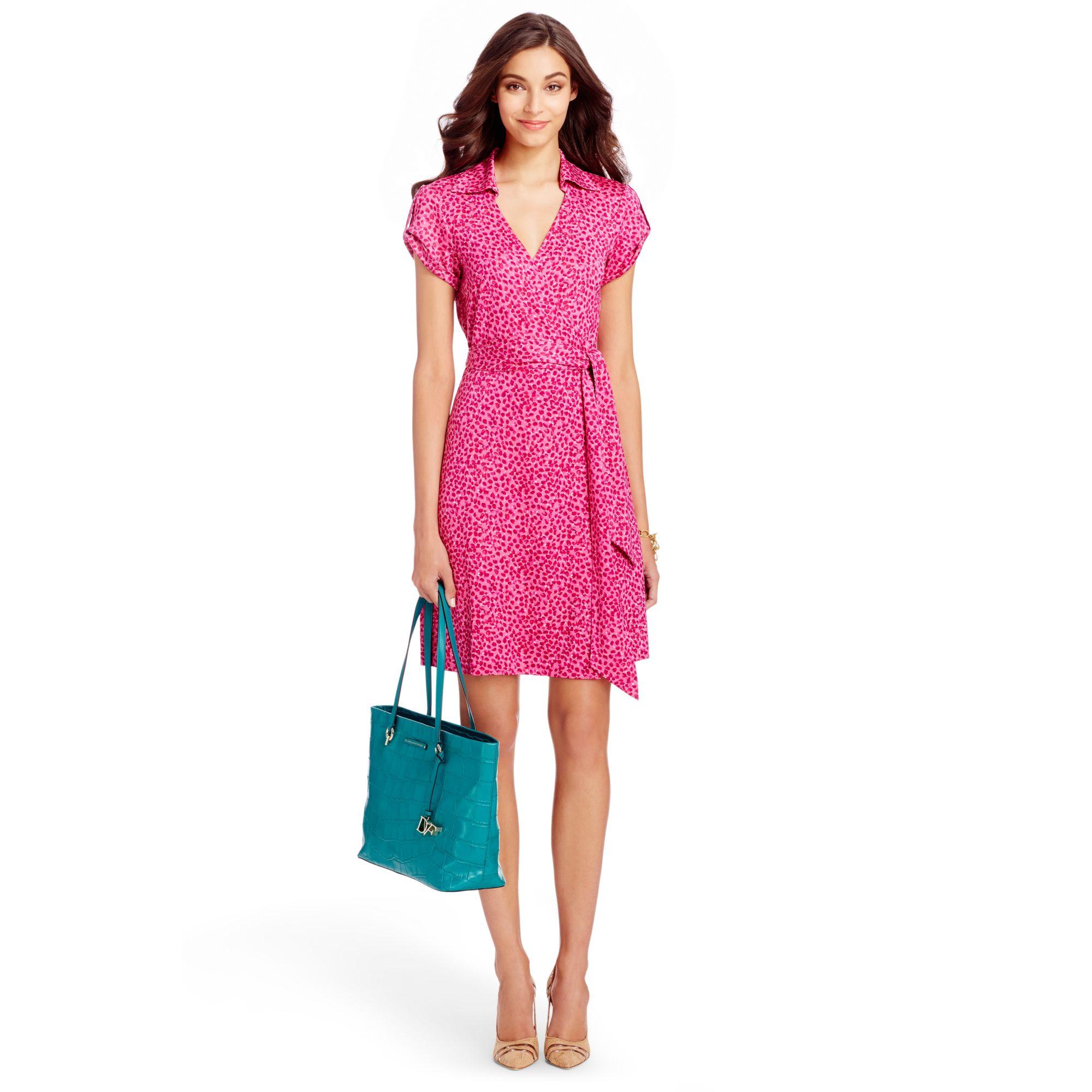 Diane von furstenberg Jilda Two Silk Jersey Wrap Dress in Purple ...