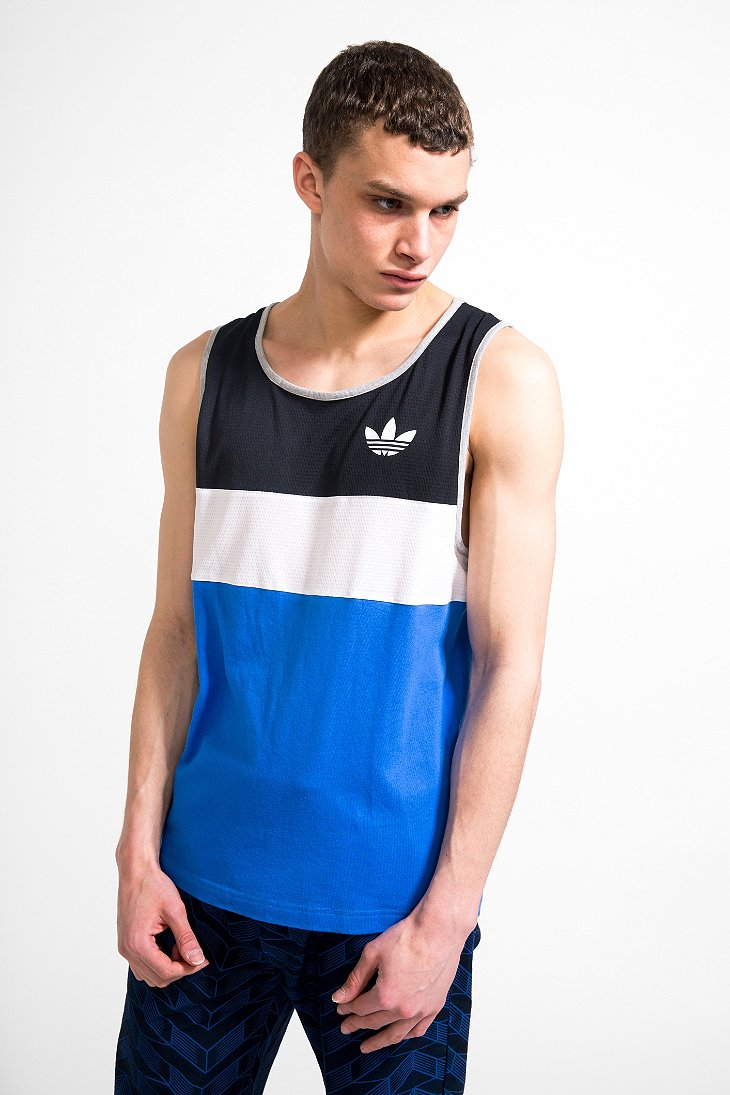 lyst adidas ll2 tank top in blue for men. Black Bedroom Furniture Sets. Home Design Ideas