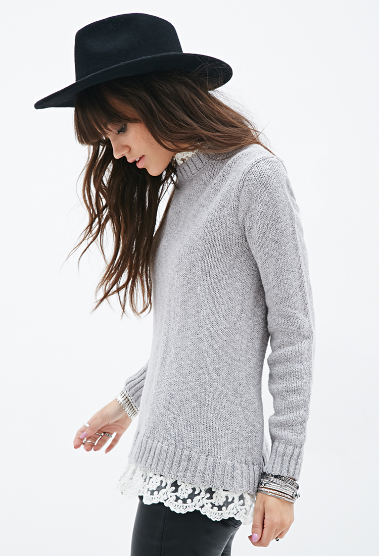 Forever 21 Lace-trimmed Sweater You've Been Added To The Waitlist ...